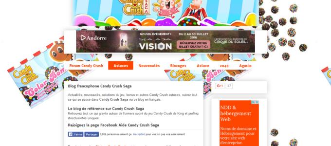 Astuces Candy Crush Saga : accueil
