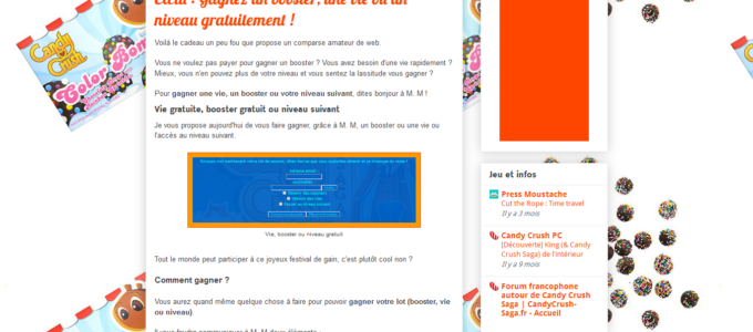 Astuces Candy Crush Saga : article