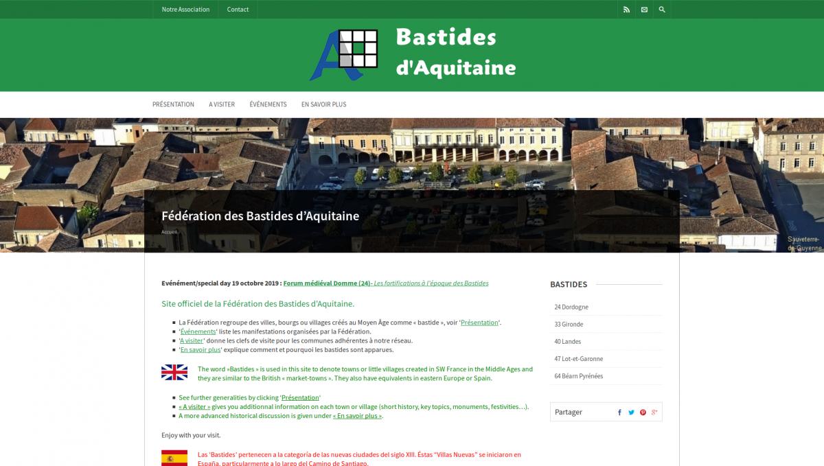 Bastides d'Aquitaine : accueil