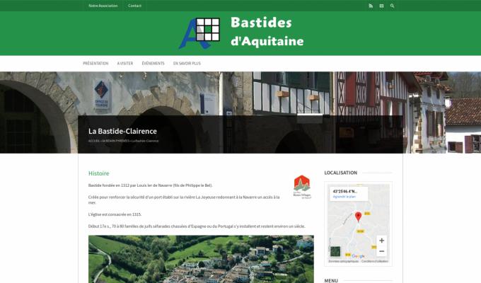 Bastides d'Aquitaine : exempe de la Bastide-Clairence