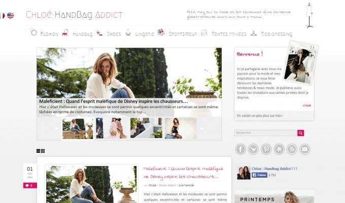 Chloé HandBag Addict : accueil