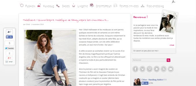 Chloé HandBag Addict : article