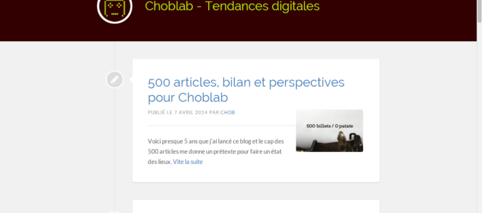 Choblab : accueil
