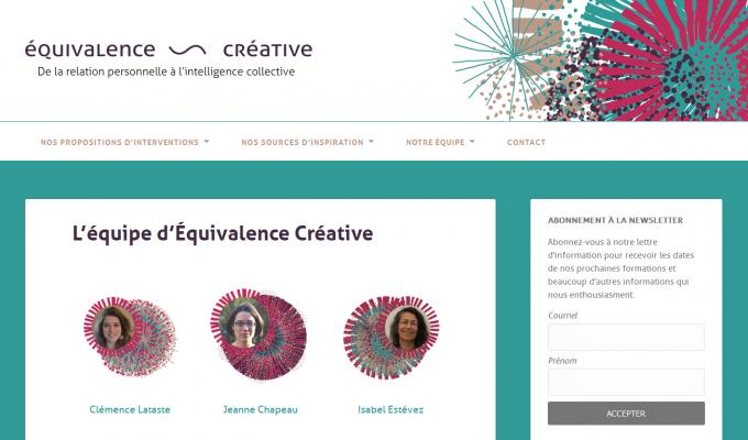 Équivalence ~ Créative : équipe