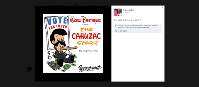 Facebook InZeePaint : statut