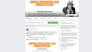 Groupe Facebook pour stage CM (stage, contrat professionnel et alternance)