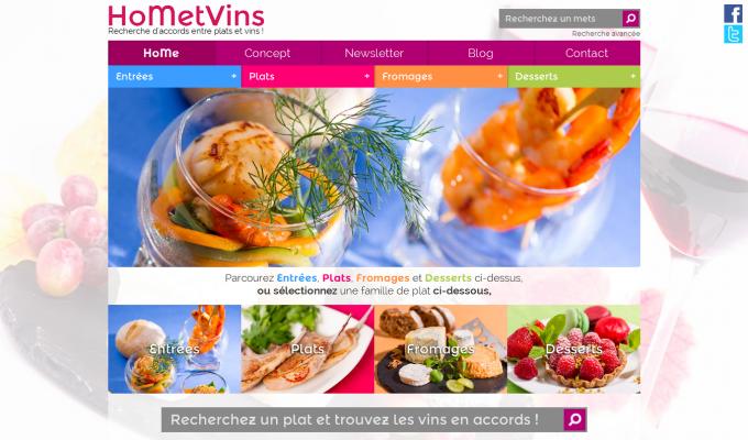 HoMetVins : accueil