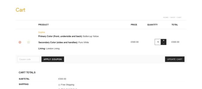E-commerce Isabella Queen : panier