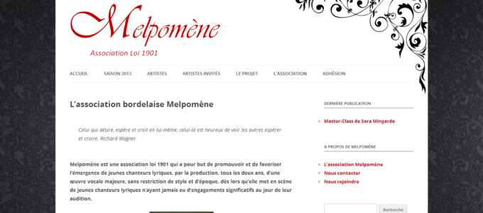 Melpomène : accueil