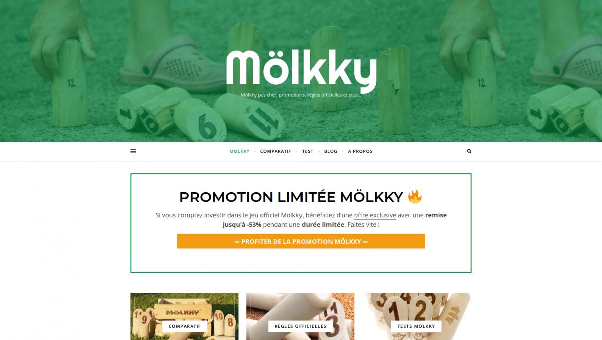 Mölkky : accueil du site