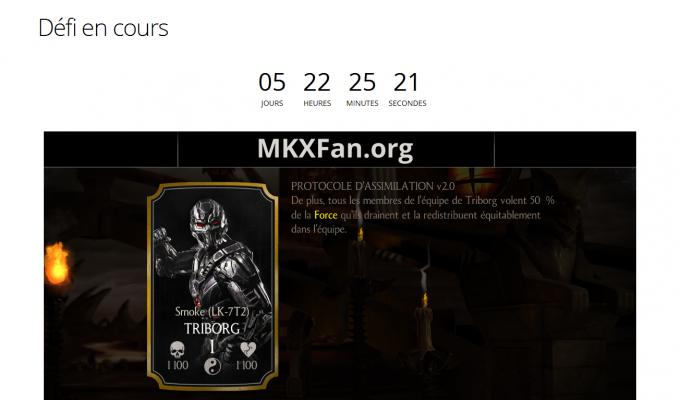 MKXFan Mortal Kombat X : articles et compte à rebours des défis en cours