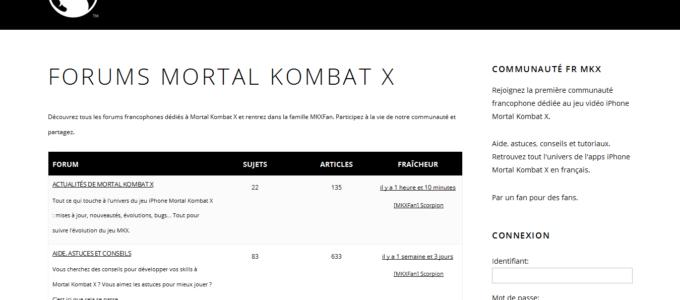 MKXFan Mortal Kombat X : forums francophones