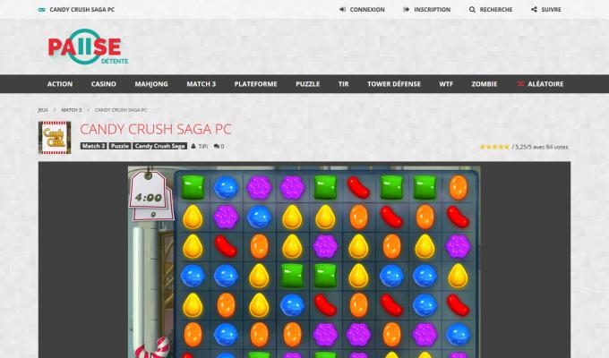 Pause Détente : page du jeu