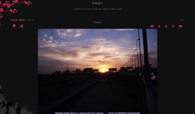 Photos Naharda Ashein Boukra : soleil couchant sur la gare du Caire