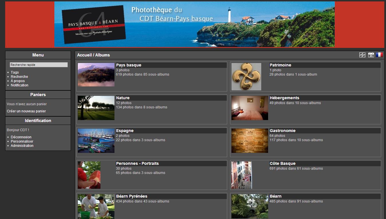 Photothèque du CDT Béarn Pays Basque : accueil