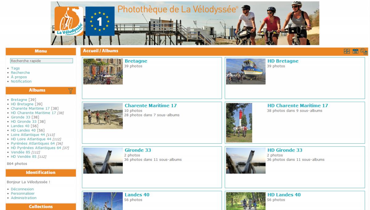 Photothèque de La Vélodyssée® : accueil