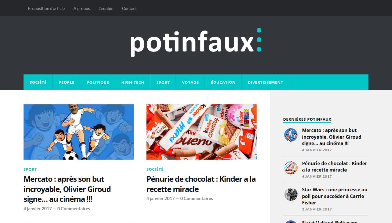 Potinfaux.org : accueil