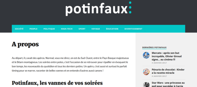 Potinfaux.org : page