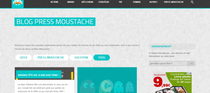 Press Moustache : blog