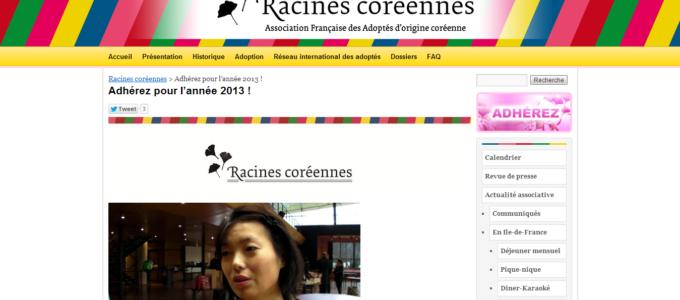 Racines Coréennes : adhésion