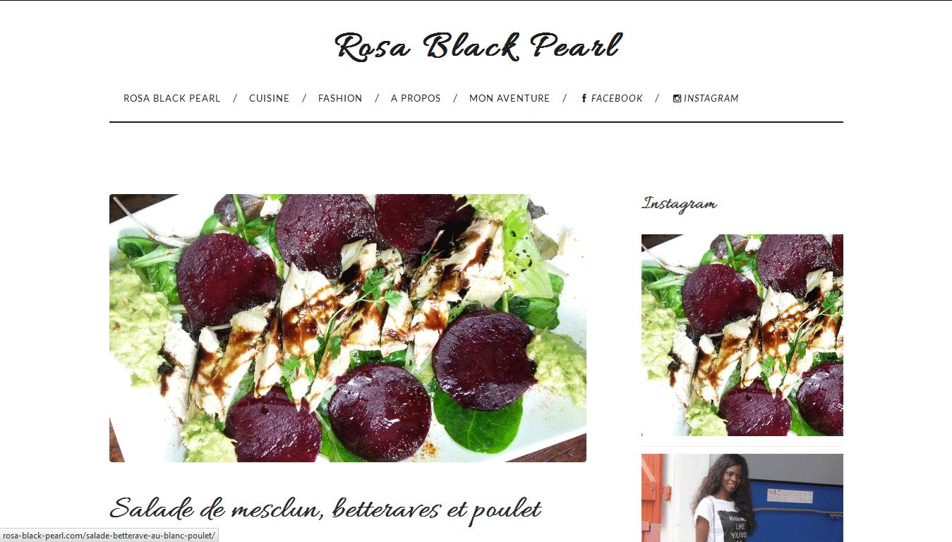 Rosa Black Pearl : accueil