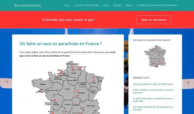 SautParachute.com : carte