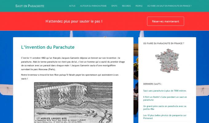 SautParachute.com : page