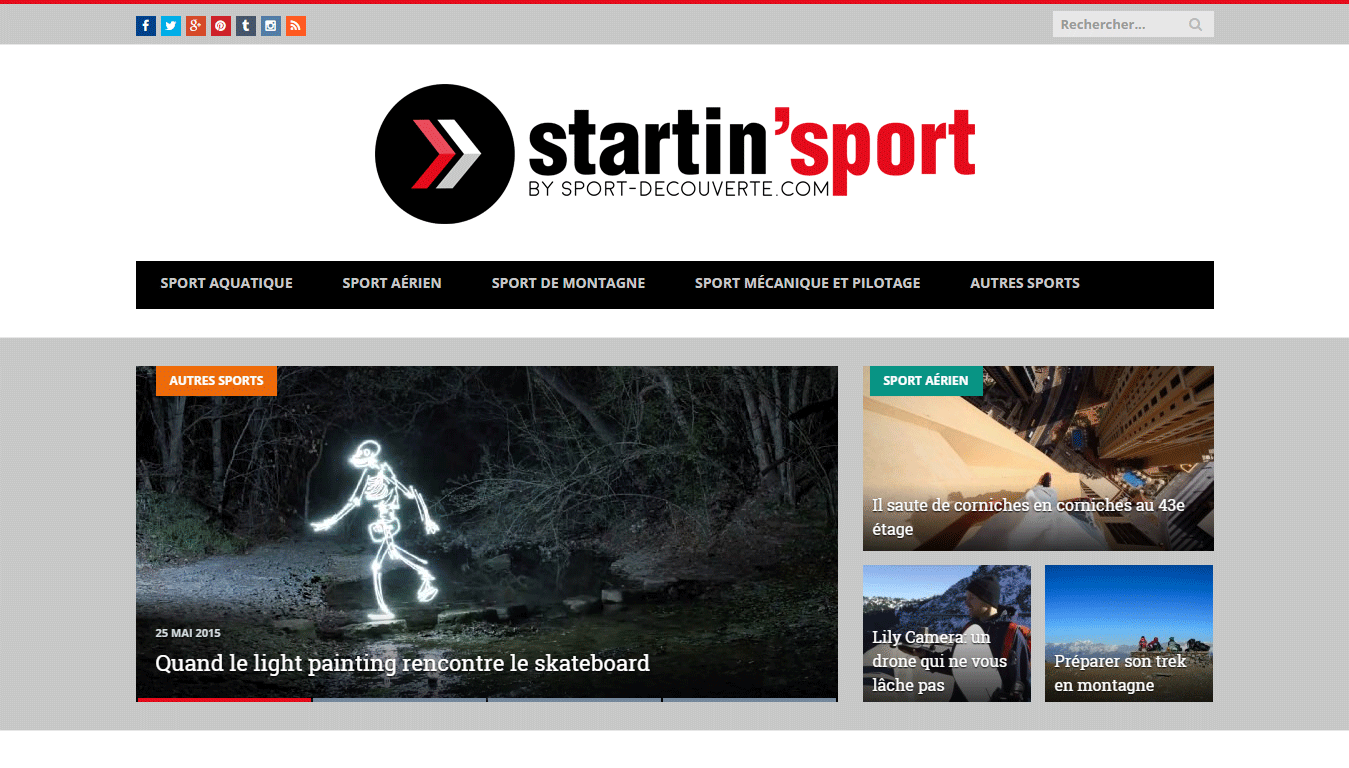 Startin' Sport : accueil
