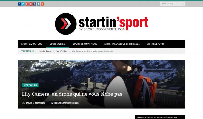 Startin' Sport : article