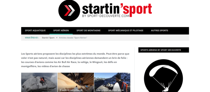 Startin' Sport : catégorie