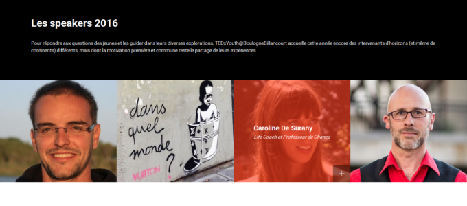 TEDxYouth Boulogne-Billancourt : speakers