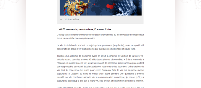 VO France-Chine : article